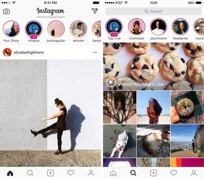 В социальная сеть Instagram появились онлайн-трансляции