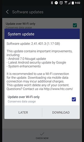 Европейский вариант HTC 10 ожидает обновление до Android 7.0