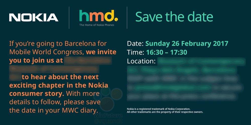 HMD Global вновь напоминает опремьере телефонов нокиа наMWC 2017
