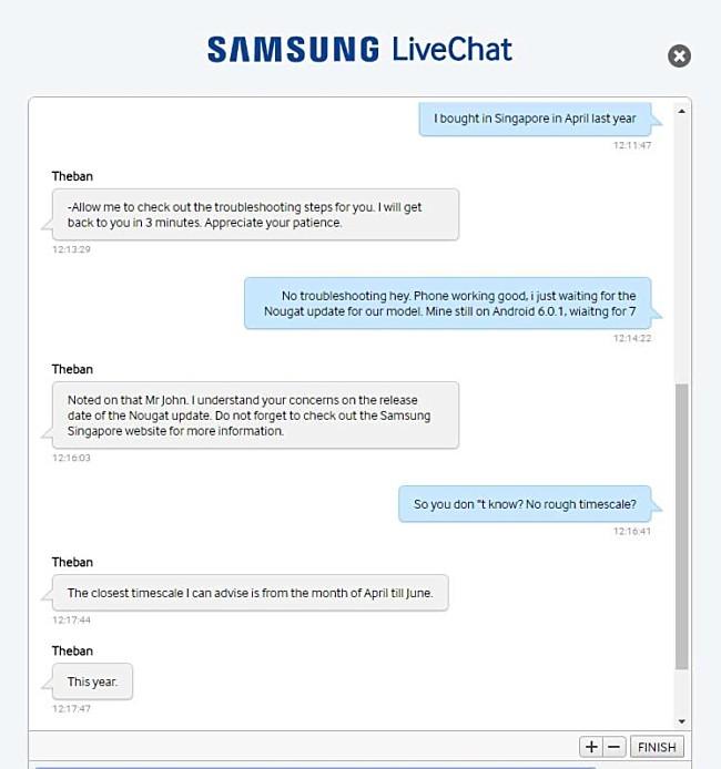 Не все Samsung Galaxy S7 получат обновление Nougat в этом квартале