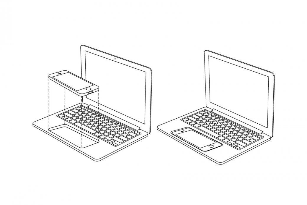 Apple запатентовала конструкцию для совмещения телефона икомпьютера