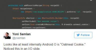 Android 8.0 может получить название в честь овсяного печенья