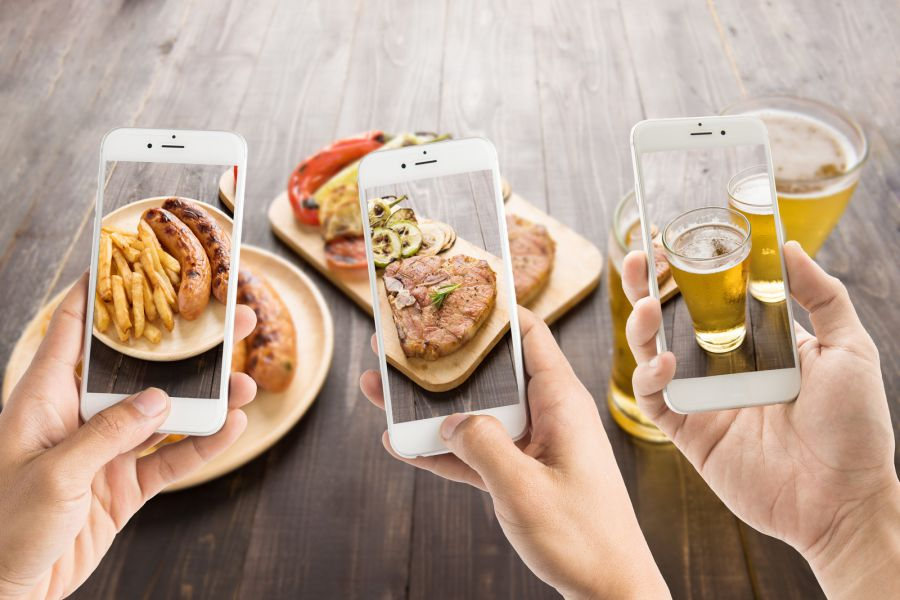 фотография еды на айфон франции