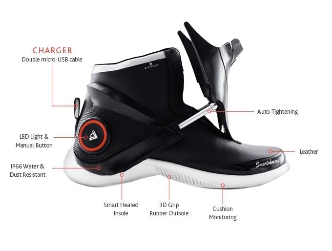 Digitsole Smartshoe – первые интеллектуальные кроссовки в мире
