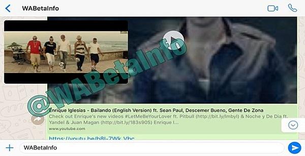 WhatsApp начнет демонстрировать видео сYouTube