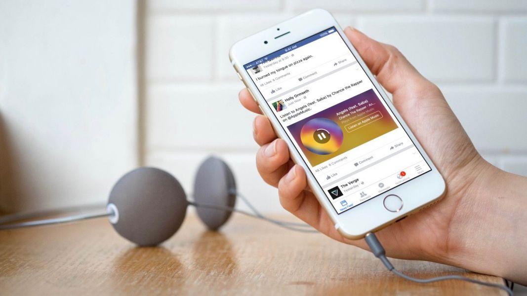 Социальная сеть Facebook  объявил о новейшей  интеграции Apple Music для Messenger