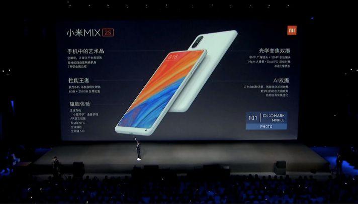 Прорыв для Xiaomi представлен безрамочный Mi MIX 2s
