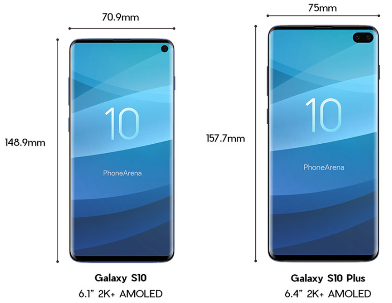 Рассекречен внешний вид Samsung Galaxy S10 и Galaxy S10 Plus