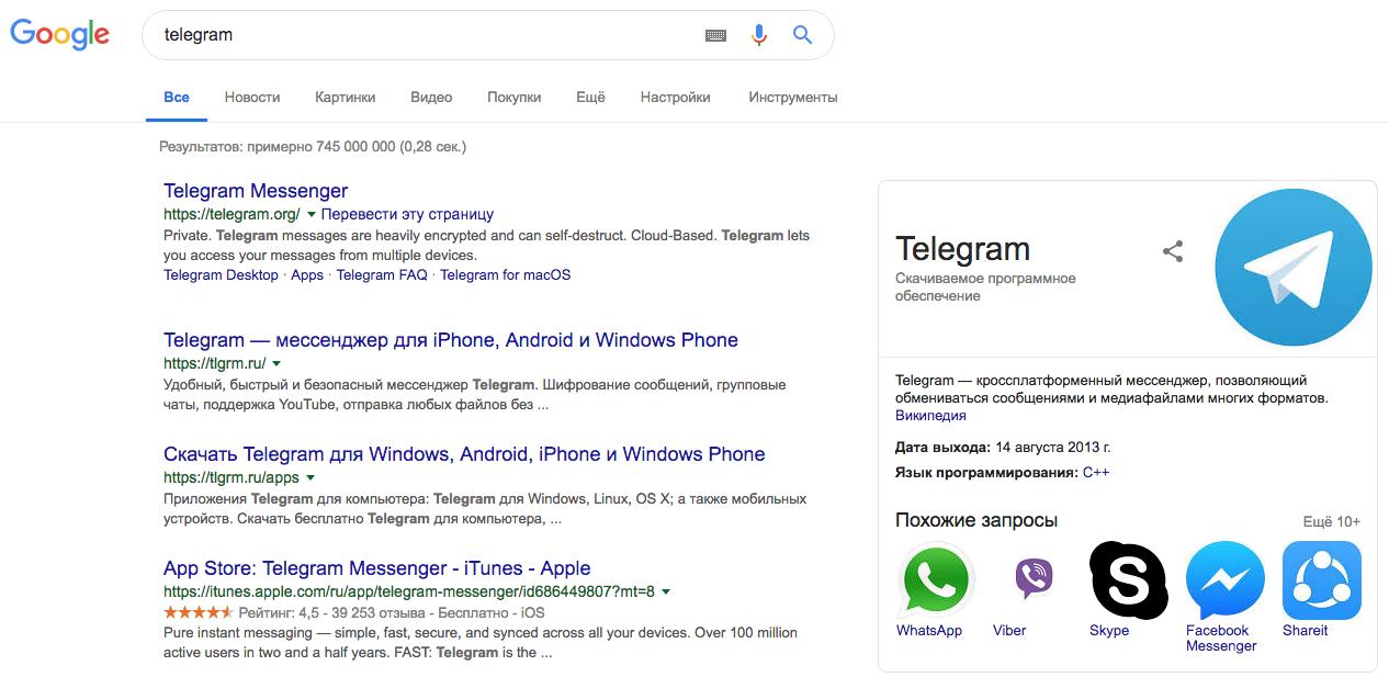telegram google