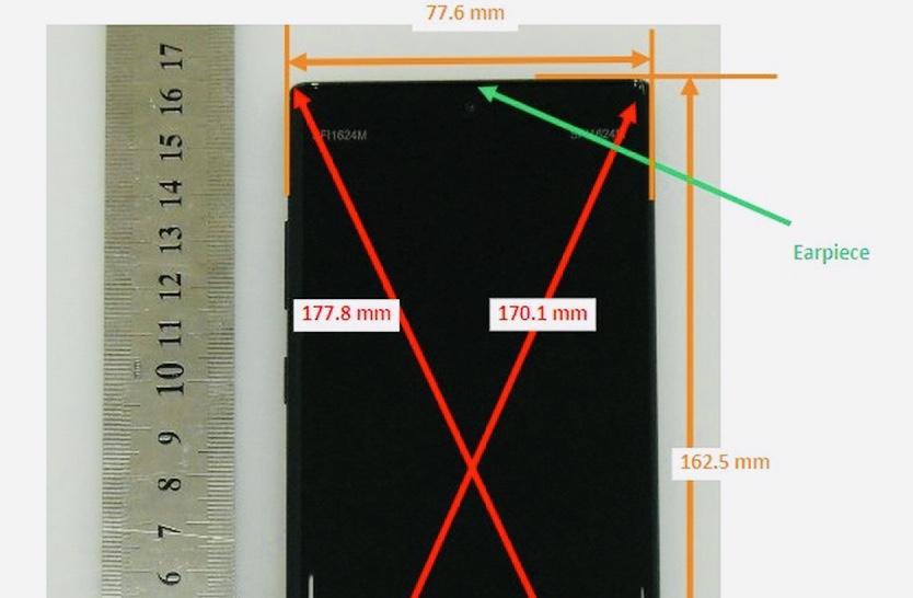 Появились живые снимки фронтальной панели Samsung Galaxy Note10