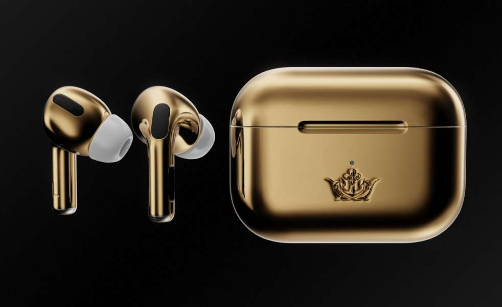 Caviar Airpods Pro Gold 1