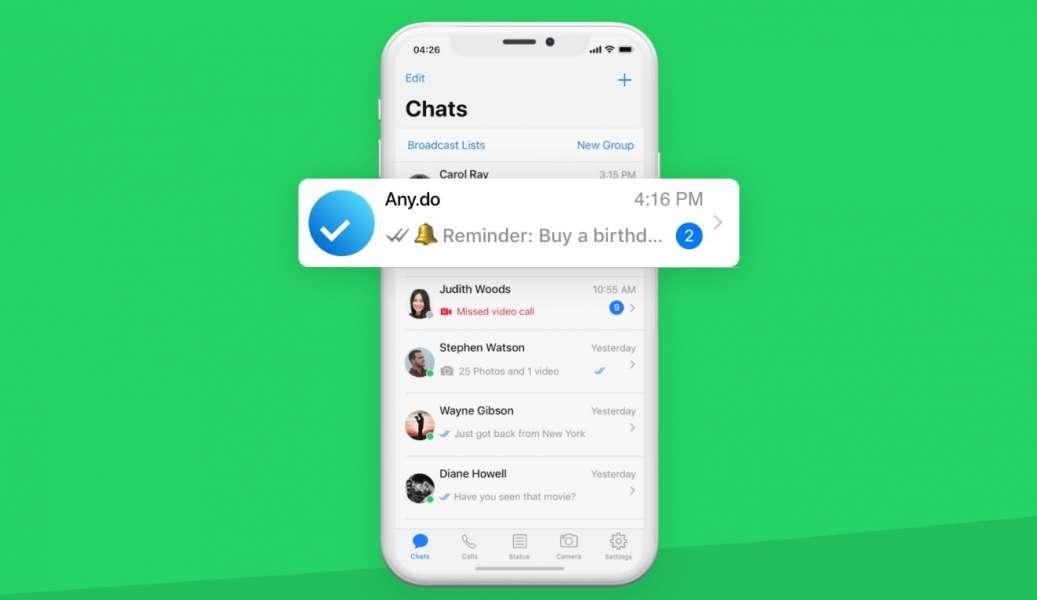 Any Do Whatsapp