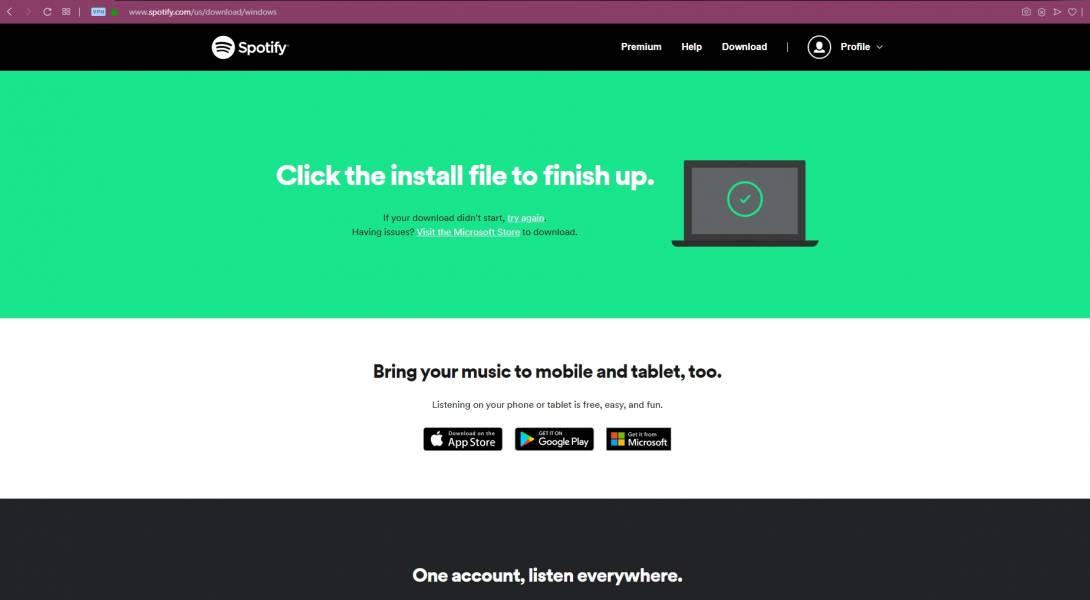 Spotify Finish